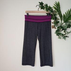 Lululemon reversible Purple Waist Capri Leggings